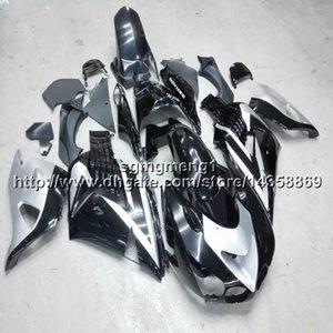 Botls + Presentes molde De Embalagem de prata preto motocicleta Carenagem Para Kawasaki 06 07 08 09 10 11 12 13 14 15 16 ZX14R 2006 2016
