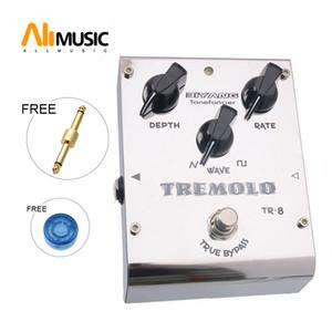 Biyang ToneFancier TR-8 аналогового Tremolo бас-гитара Педаль Effect 2 Формы волны Adjust Истинного байпаса с разъемом педали