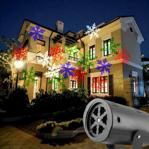 방수 이동 눈 레이저 프로젝터 램프 눈송이 LED 무대 조명 크리스마스 신년 파티 빛 정원 램프
