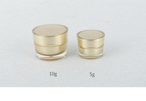 Garrafas 100PCS 10pcs 5g 10g de plástico recarregáveis Pomada vazio sombra Cosmetic Jars Pot Eye Creme Container recarregáveis Box