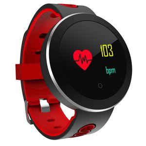 Tracker Pro Smart Impermeabile Android Heart Blood Prssure Guarda il braccialetto del monitor Tariffa Fitness Q8 Bluetooth IP68 Orologio da polso per Smart IPH JUXU