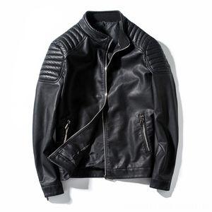 Spring Autumn Biker Leather Jacket Men Fur Coat Motorcycle PU Casual Slim Fit Outwear Male Black Clothing Plus Men's Outerwear & Coats Men's