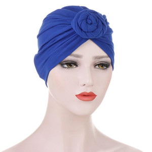 New Women Cotton Twist Knot India Hat African Knotted Turban Hat Ladies Chemo Cap Headbands Women Hair Accessories