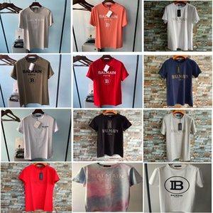 Balmain T-shirt estate Etero Moda nero del motociclo bianco Uomini Donne Tees Cotone eroe Uomo Abbigliamento a buon mercato