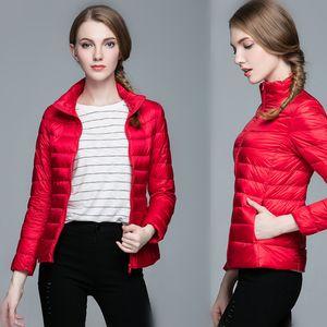 Women's stand collar ultra-thin down jacket women's size jacket