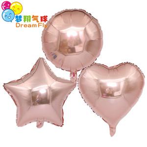 Redondez de amor Globo Globo de recubrimiento de aluminio de 18 pulgadas Globos de helio Decoración de cumpleaños Boda Globo de aire Suministros para fiestas