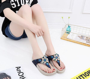 Foot Sandals Flip Flops Bohemian Soft Bottom New Slippers Womens Summer Beach Resort