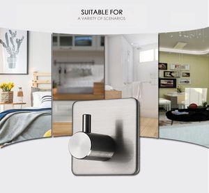 3M 스티커 접착제 스테인레스 스틸 후크 벽 도어 의류 코트 모자 걸이 주방 욕실 방수 방청 수건 걸이 VT0934