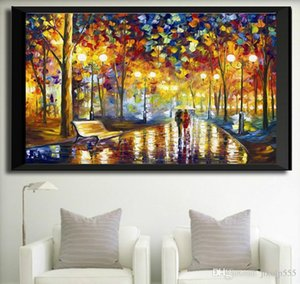 2017 new cube drills, living room decorations, paintings, lights, streetscape, walking in the rain, painting free shipping
