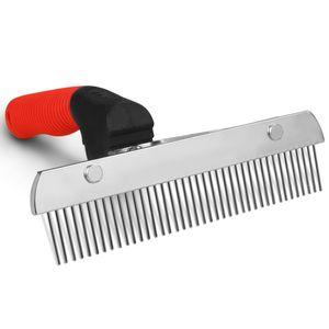Lungo Tooth sottopelo Dog Rake Anti-Slip gomma maniglia Preparando Rake Slicker Strumento Heavy Duty e acciaio pettine per capelli Pet