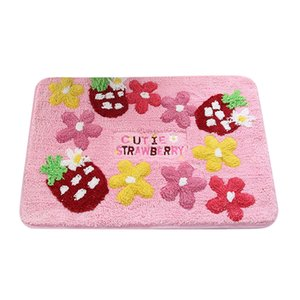 50 * 70 centímetros Morango Padrão Capacho antiderrapante Tapete Household cabeceira quarto Tapete Princesa adorável banheiro tapetes de cozinha Pad