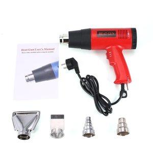 Hot Air Heat pistolet à souder Rework Outil bricolage + Buse 866B 1800W électrique Température ventilateur Shrink réglable Peinture Wrap Décapant