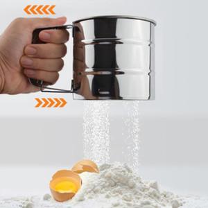 Flour Mesh en acier inoxydable sucre tamiseuse Coupe forme Ustensiles pour cuisson Outil farine tamiseuse Cuisine Gadget non toxique