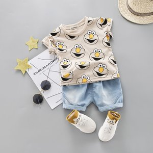 Baby Boy Clothing Set Cute Summer T-Shirt Cartoon Children Boys Clothes Shorts Suit for Kids Outfit Denim Outfit