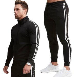 Men Sports Casual Wear Zipper Fashion Tide Hoodies male sweat track suit jacket hoodie Mens sporting suits Y200704