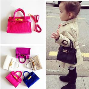유명한 키즈 핸드백 유아 아기 소녀 공주님 지갑 패션 lichee 패턴 캔디 색상 메신저 가방 어린이 생일 선물