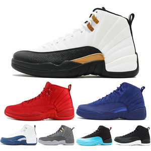 I migliori 12 scarpe da basket uomo 12s Classic CNY Deep Royal GIOCO FLU New Gym Red Michigan XII Designer uomo Sport Sneakers US5.5-13