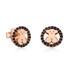 ZOUDKY NOUVEAU 100% Argent 925 Mignon Espagne Ours Boucles d'oreilles 712163630 Mode Simple Bijoux originaux Femmes de cadeau d'anniversaire