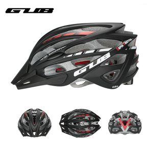 GUB Integralmente-moldado Bicicleta Capacete de Ciclismo Visor Homens Mulheres MTB Mountain Road Bicicleta Capacete de 57-61cm 30 Vents Acessórios da bicicleta
