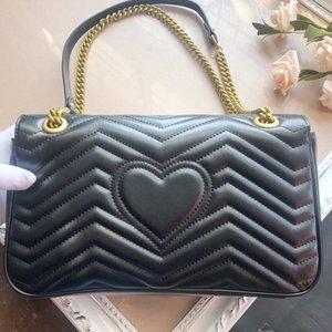 Genuine leather Serial number Women Bag Brand designer marmont luxury fashion high quality woman handbag shoulder Crossbody Backpack