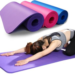 183 * 61 سنتيمتر NBR Yoga Mats Lose Weight Solid Color Anti-skid Gymnastic Ruit Health Fiture Fiiture-Proof Pad High Quality