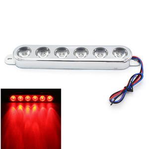 يونفرسال 6 دي موتوسيكل دي موتوسيكل الفرامل الذيل ضوء ضوء ضوء Strobe تشغيل مصباح أحمر