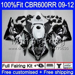 Впрыск для HONDA CBR 600RR 600F5 CBR600RR 09 10 11 12 282HM.11 CBR 600 RR F5 CBR600 RR 2009 2010 2011 2012 обтекатели комплект граффити черный