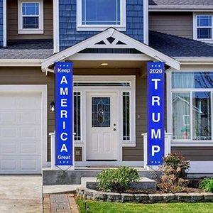 Trump 2020 Flag Mode Familie Vorhang-Garten-Dekoration kreative Partei Flagge Heim Halten Amerikaner Großes Hanging Banner LJJ_TA1251