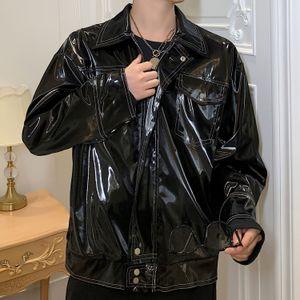 خمر الشارع الشهير الهيب هوب الشرير القوطي بو جاكيتات جلدية بارد ملابس خارجية جديد سترة جلدية معطف ذكر