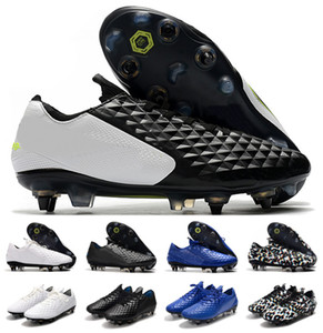 2020 Nuevo Tiempo Legend Elite 8 VIII SG-Pro 8S CA debajo del radar de los zapatos para hombre de baja del tobillo Fútbol Fútbol Sergio Ramos Botas Tacos de EE.UU. 6.5-11