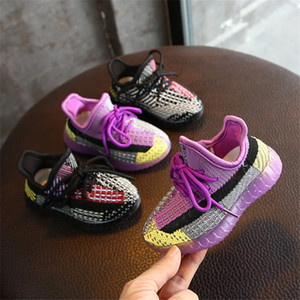 DIMI 2020 Frühling-neue Baby-Schuhe Strickbreathable Kleinkind-Jungs-Mädchen-Schuh weicher bequemer Säugling Sneaker Marke Kind