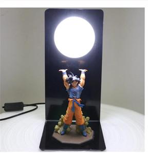 Lamba Goku Gücü Bombalar Luminaria Masa Lambası DBZ Dekoratif Işıklar Çocuklar Bebek Çocuk Yatak Odası Için LED Gece Lambası
