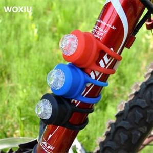 Nuit Woxiu sécurité Gyrophares vélos Équitation Feu arrière coloré Led lumière Frog Lumière silicone Double Fréquence Vitesse réglable