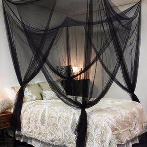 Siyah / Beyaz Yatak Canopy Cibinlik Kumaş Örgü Böcek Shelterd Kız Odası Prenses Yatak Dekor Çadır Koruma Çocuk