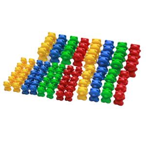 96pcs Selezione / Conteggio / Peso Giocattoli arcobaleno colorato Bears, Montessori Math materiali, giocattoli educativi e colori Ordinamento Giocattoli per i bambini