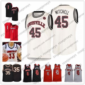 2020 Louisville College Basketball # 0 Terry Rozier III Damion Lee 22 Deng Adel 35 Darrell Griffith 45 Mitchell Retro Donovan NCAA Formalar