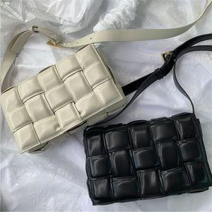 크로스 바디 가방 패키지 카세트 스폰지 가방 가죽 핸드백 대각선 격자 무늬 베개 여성의 어깨 가방 여성 handbagbag을위한 가방을 여자