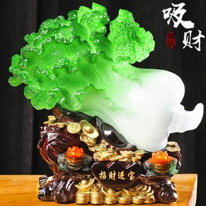 Living Room Home Decoration Jade Cabbage Decoration Lucky Large Golden Toad Living Room Porch Wine Cabinet Shop Home Craft Decorations Openi
