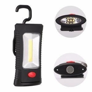2-Modi COB LED magnetische Arbeitslicht Klapphaken Fackel Linternas Lanterna Taschenlampe Handlich Beleuchtung Verwenden Sie 3x AAA