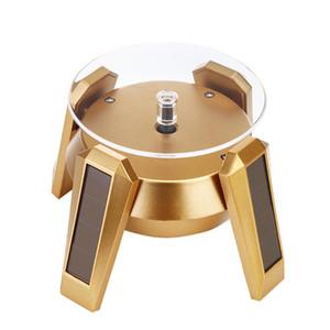 Ювелирные изделия дисплей стенд серьги мода рабочий стол 360 градусов вращающееся кольцо коробка магазин Холдинг телефон светодиодный свет часы на солнечных батареях