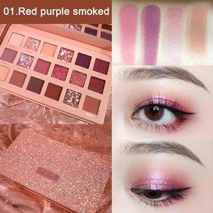 New 18 Colors Nude Glitter Eyeshadow Palette Rose Desert Pearl Waterproof Eye Shadow Gold Eye Makeup Cosmetic TSLM2