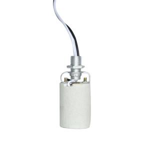 السيراميك برغي المعمرة جولة استخدام المنزلي المقبس E27 E14 محول مع كابل مقاوم للحرارة لمبة من السهل تثبيت حامل مصباح قاعدة