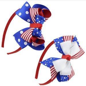 머리띠 아기 소녀 여름 헤어 활 bowknot 7 월 독립 기념일 스타 스트라이프 국기의 어린이 헤어 걸쇠 4