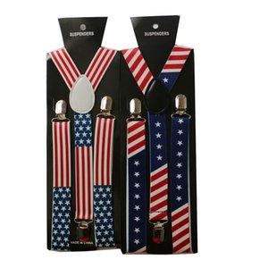 Erwachsene Strapse USA Flagge Elastic 2.5 * 100cm Bügel Y-Strapse Adjustable Fashion Gürtel Adult Stage Performance UK Flagge HHA927