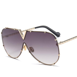 X907 óculos de sol piloto Mulheres Marca Designer Homens de luxo Espelho Sunglass V Oversize Limpar Feminino 2018 Sun Vidro óculos Feminino Plano TopDR35628