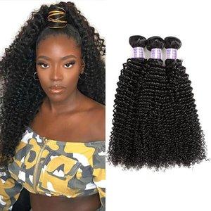 8-28inch déchaîne vague de corps humain Bundles cheveux 3/4 / 5pcs Péruvien Yaki droit humain Extensions cheveux bouclés eau Virgin Hair Weave Bundles