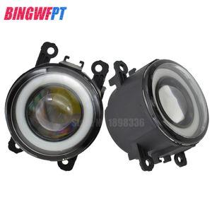 2PCS Car Styling LED Front Fog Lights Angel eye For Peugeot 207 307 407 607 3008 SW CC VAN 2000-2013