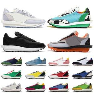 Nike Sacai LDV Waffle Daybreak Женщины Мужчины Дизайнерская повседневная обувь Green Gusto Pine Green Wolf Серые мужские спортивные кроссовки 36-45