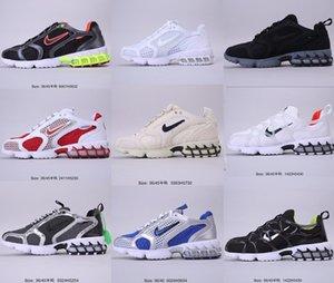 2020 Authentic Stussy x Nike Air Zoom Spiridon CG 2 air zoom spiridon cage 2 Nike stussy fossil PURE PLATINUM Women Men hococal Running Shoes Sneakers CQ5486-200 CU1854-001