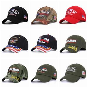 14 stili Trump 2020 Cappelli rendere l'America Great Again Camouflage USA Flag partito cappello del ricamo 3D di Baseball Cap ZZA1751-1 30pcs